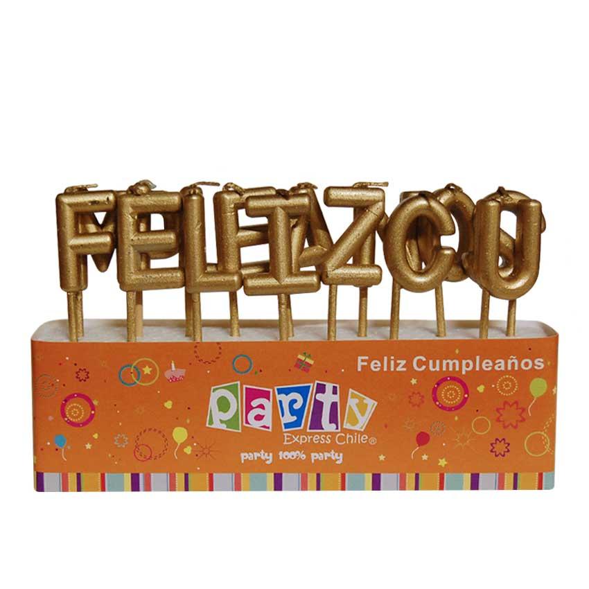 Vela Cumpleaños Oro