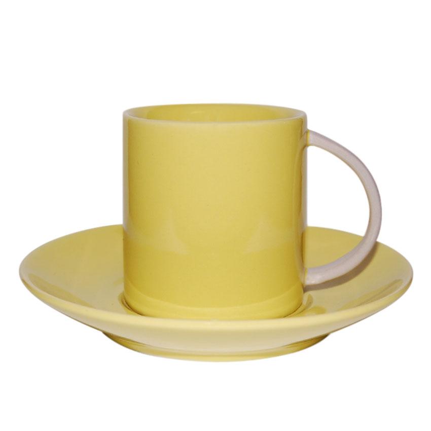 Taza + Plato Amarillo de C