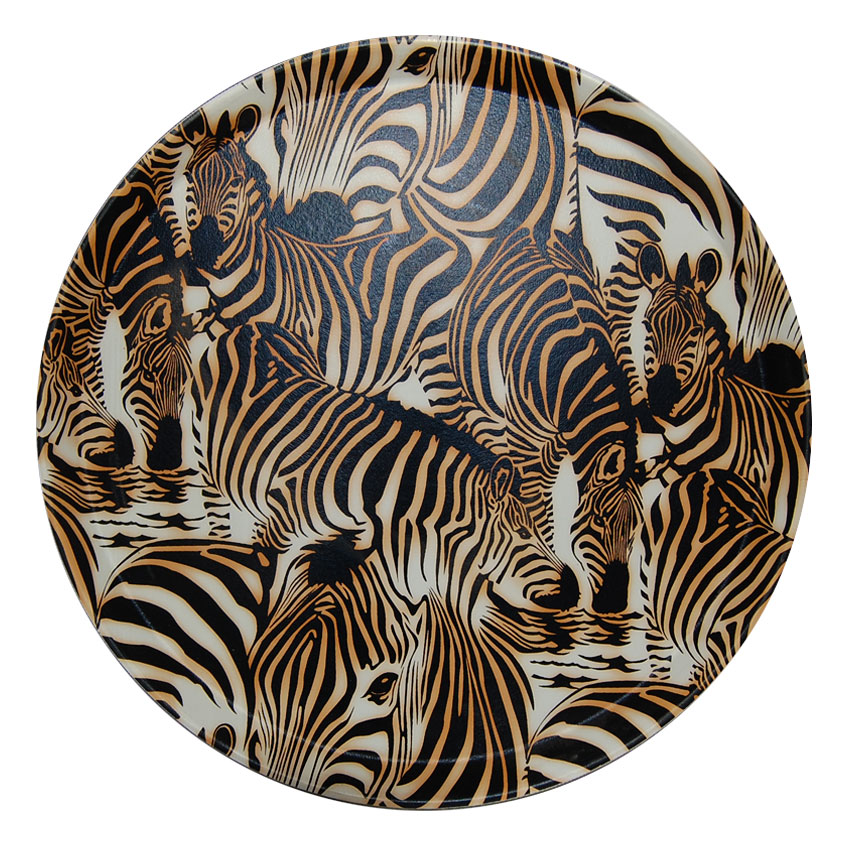 Bandeja circular Cebra