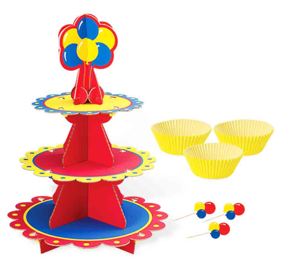 Set Soporte Cupcakes Color