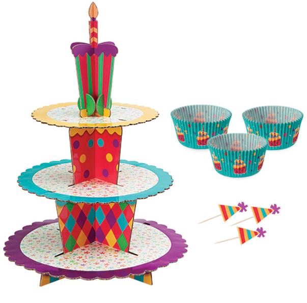 Set Soporte Cupcakes Fiest