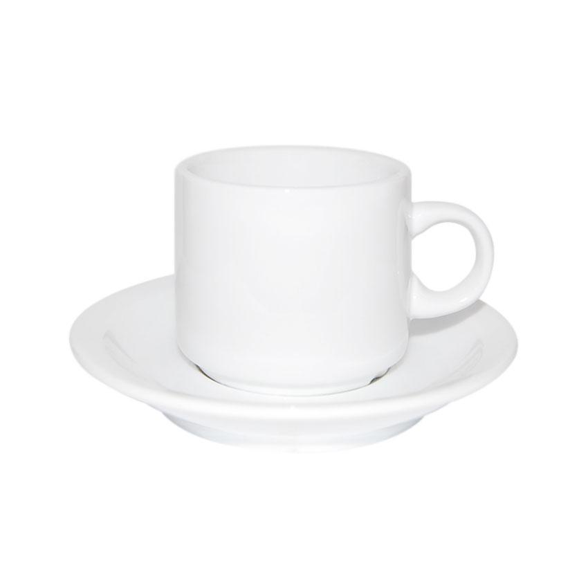 Taza + Plato Blanco de Caf