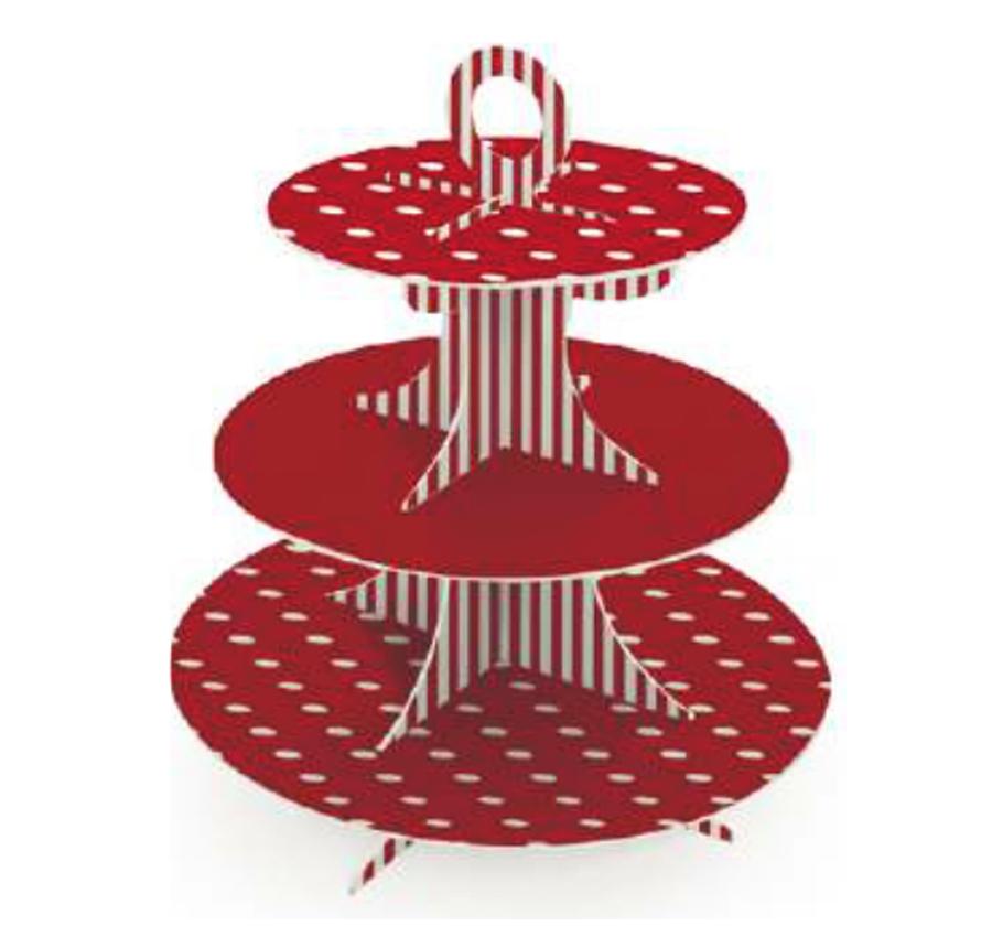 Soporte para Cupcakes Rojo