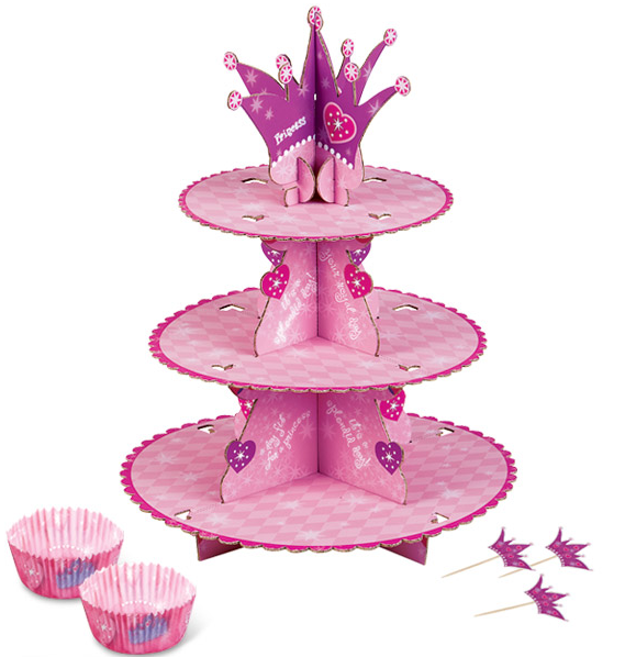 Set Soporte Cupcakes Princ