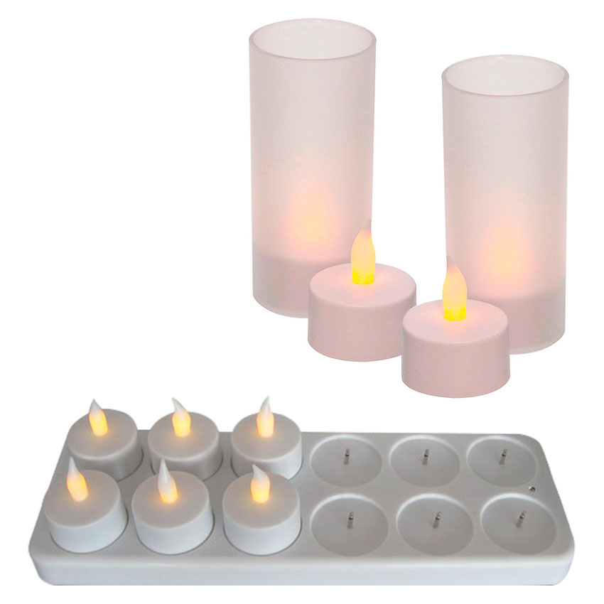 Set 12 Velas Led Recargabl