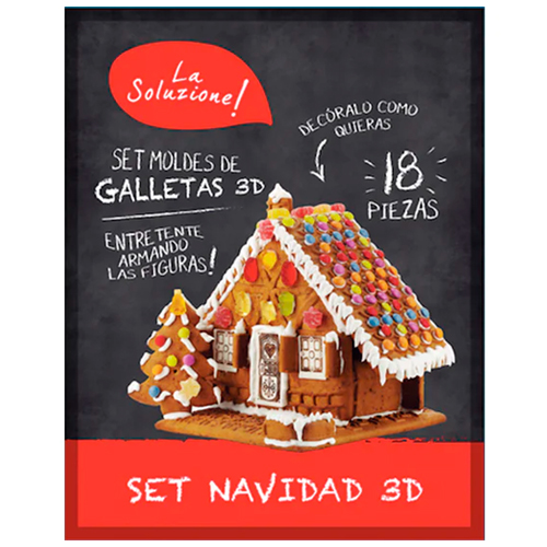 Set Moldes de Galletas 3D