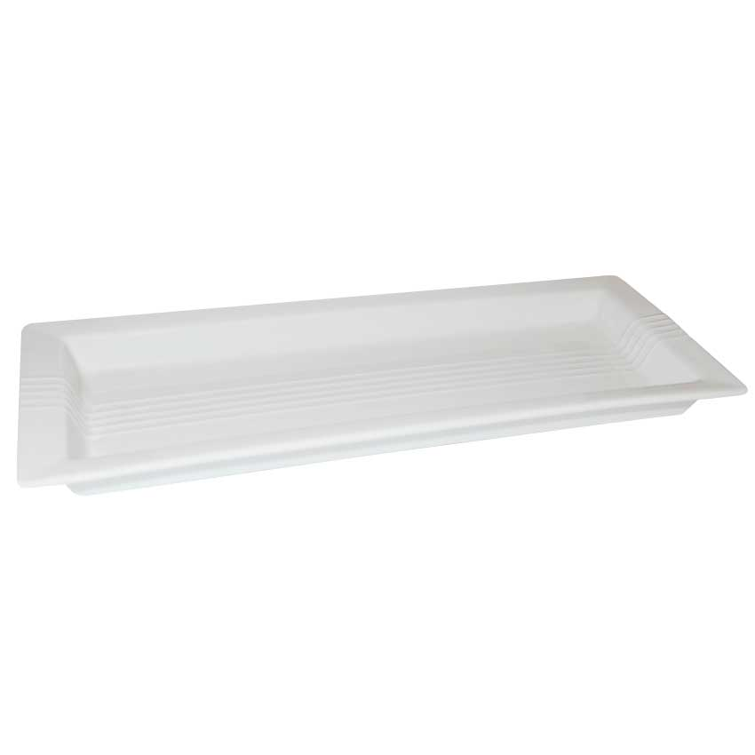 Plato rectangular líneas