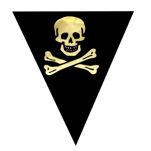 Guirnalda Triangular Negra