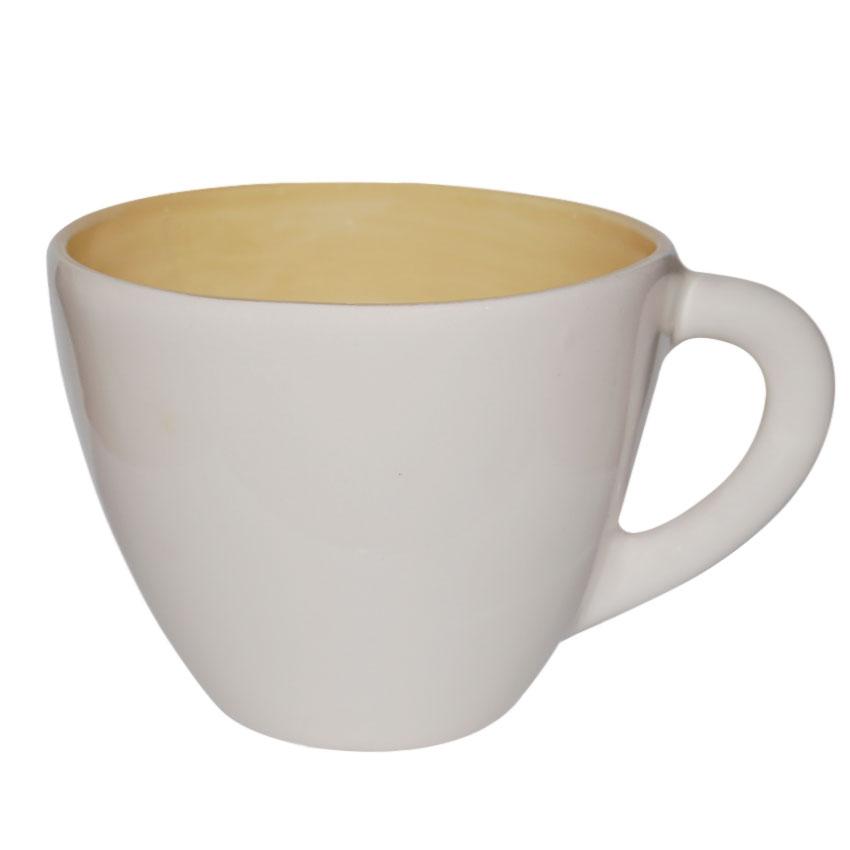 Taza Blanca y Amarilla