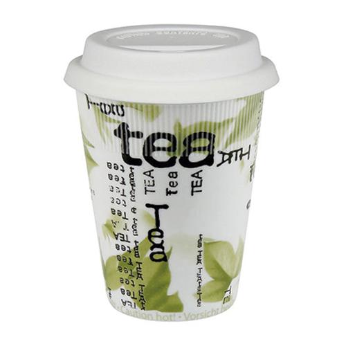 Taza de Porcelana con Tapa